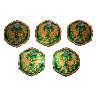Vintage Coat of Arms Coaster Set