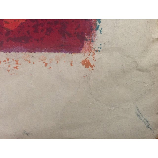 Mid-Century Abstract Silkscreen Estelle Siegelaub - Image 6 of 7
