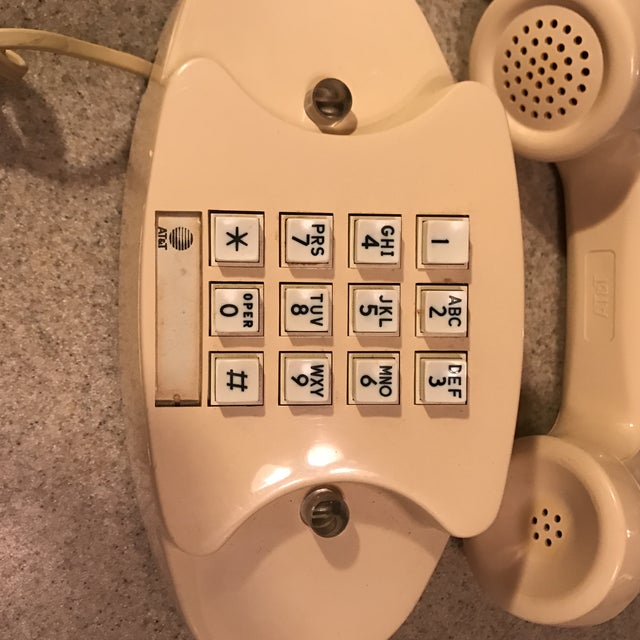 Ivory Western Electric Princess Push Button Phone - Image 5 of 11