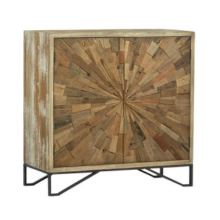 Reclaimed Wood Sunburst Cabinet