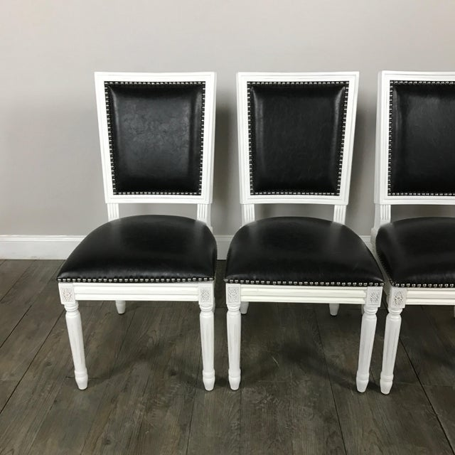 Image of Leather Louis Dining Chairs - Set of 4