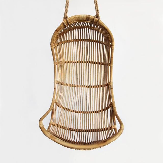 Image of Hanging Bamboo Scoop Chair