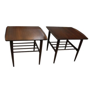 Vintage Mid-Century Modern Teak End Tables - A PAir