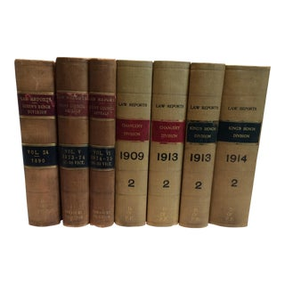 Antique English Law Books - Set of 7