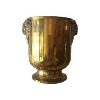 Vintage Spanish Ram's Head Brass Ice Bucket