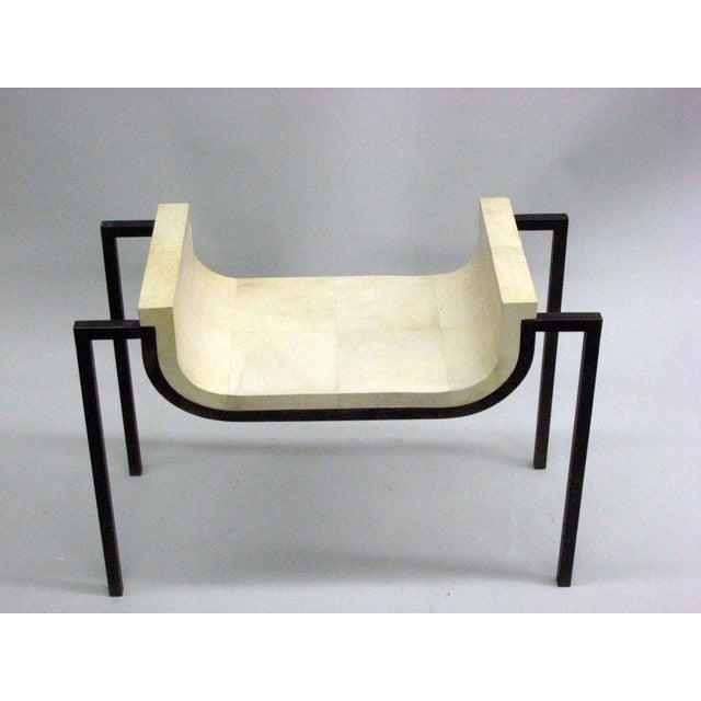 Two Parchment Benches in the Style of Marc Duplantier - Image 3 of 9