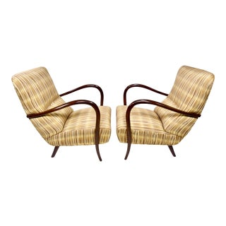Italian Mid-Century High Back Chairs - A Pair