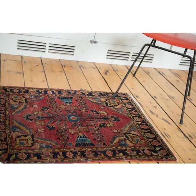 "Vintage Persian Sarouk Rug Mat - 2'3"" X 2'9"" - Image 2 of 7"