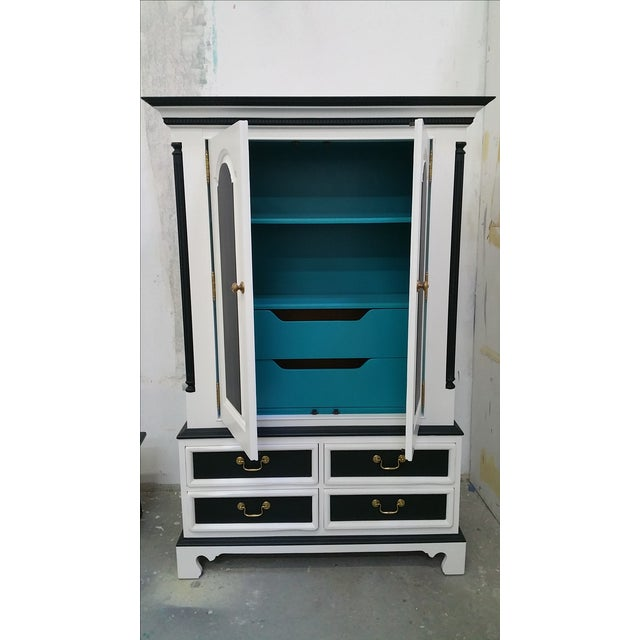 Painted pine armoire chairish for Armoire new york city