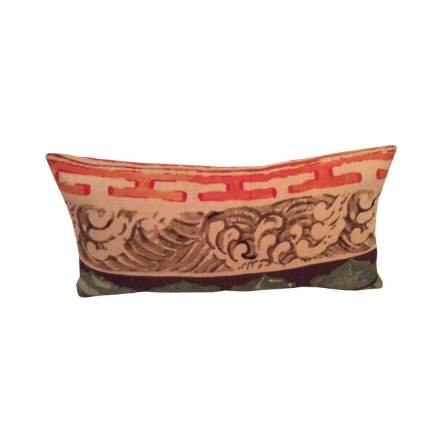 Jim Thompson Asian Style Linen Pillows - A Pair - Image 1 of 4