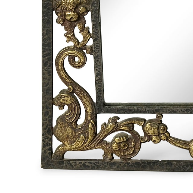 Neo-Gothic Mirror by Oscar Bach - Image 4 of 4