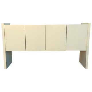 Cream Lacquered Milo Baughman Console for Thayer