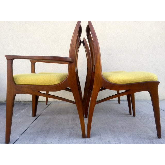 Mid Century Mod Curved Tailback Dining Chairs - 6 - Image 5 of 11
