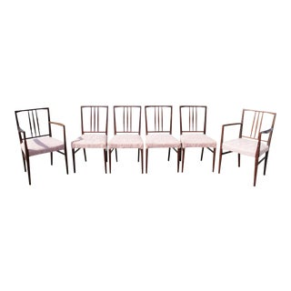 Mid-Century Modern Mahogany Dining Chairs - Set of 6