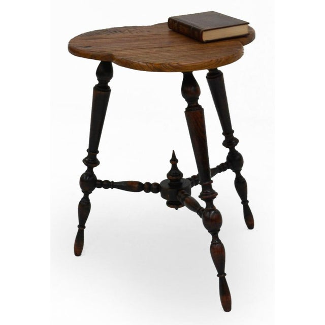 Sarreid Ltd. Turned Leg Tripod Side Table - Image 4 of 5