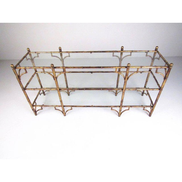 Faux Bamboo Gilt Console Table - Image 2 of 7