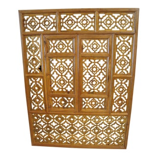 Chinese Wood Carved Screen