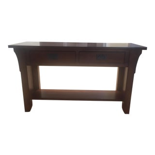 Mahogany Two Drawer Console Table