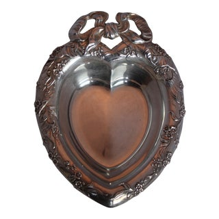 Antique Reed & Barton Sterling Silver Heart Dish