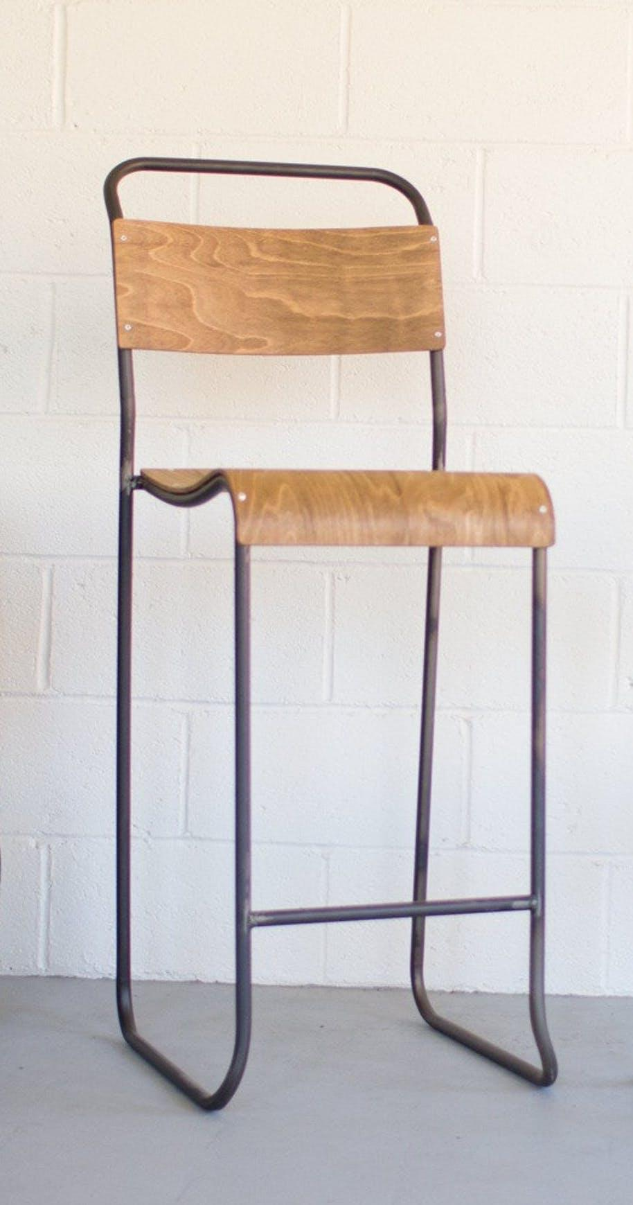 Kalalou Schoolhouse Molded Plywood Seat Bar Stool Set Of