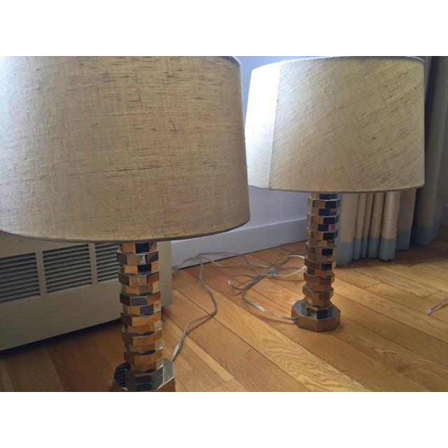 Vaughan Table Lamps & Shades - A Pair - Image 3 of 4