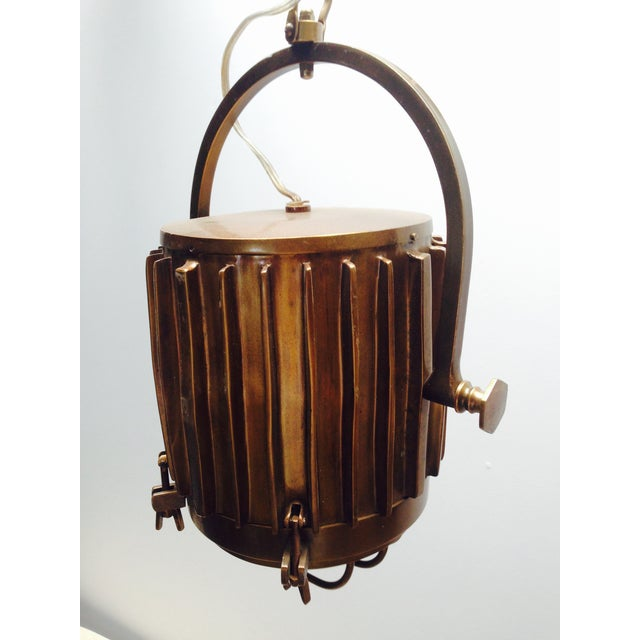 Bronze Industrial/Nautical Hanging Pendants - Image 6 of 11