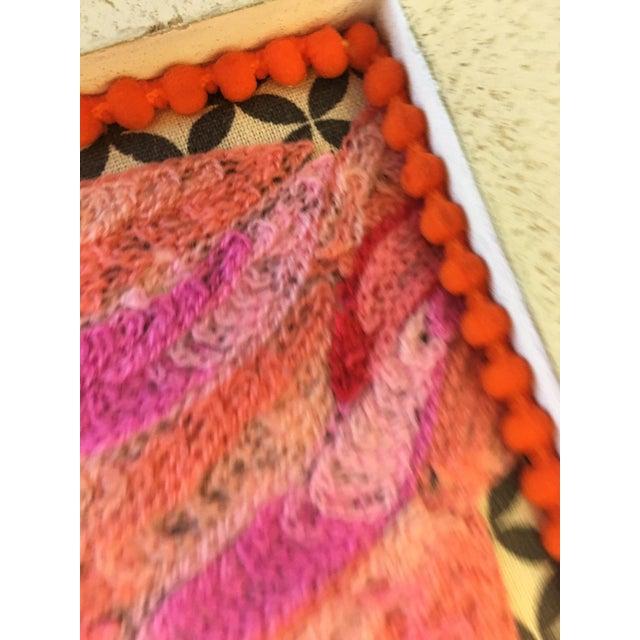Flamingo Textile Art - Image 4 of 4