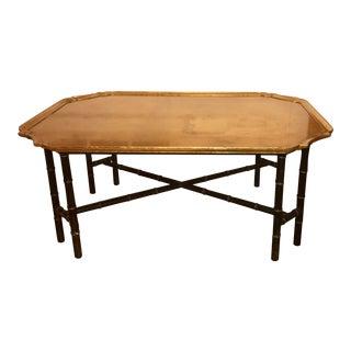 Kittinger Furniture Co. Faux Bamboo Gilt Coffee Table