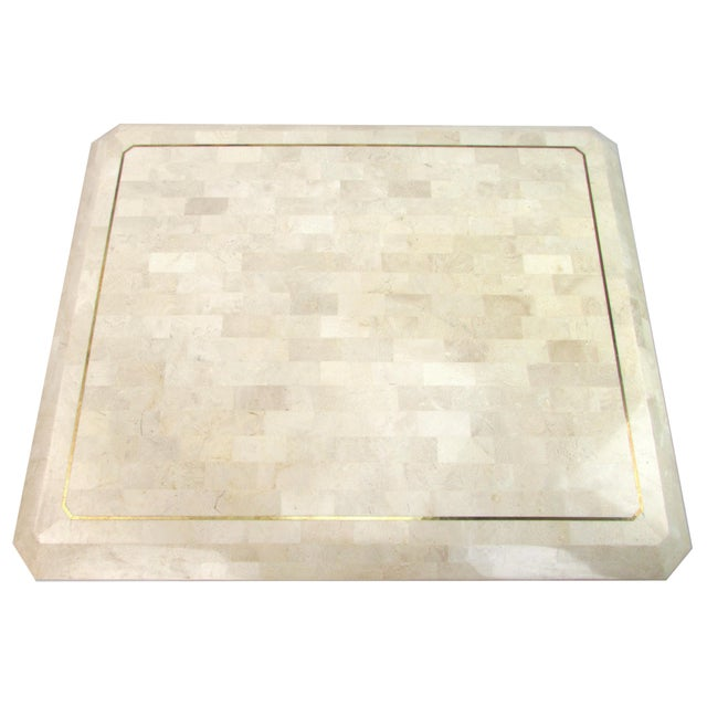 Tessellated Limestone Side Tables, Pair - Image 7 of 7