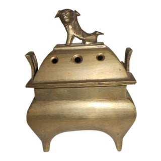 Chinese Foo Dog Brass Incense Burner