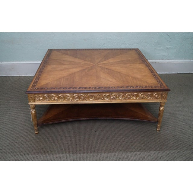 Image of Jonathan Charles Louis XVI Inlaid Coffee Table