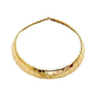 Goldtone Flex Collar Necklace