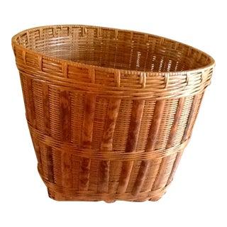 Large Wood Bamboo Storage Basket