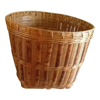 Large Wood Bamboo Storage Basket
