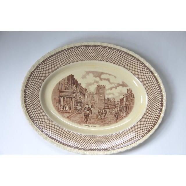 Myott Brown Transferware 'Shakespeare' Serving Platter - Image 2 of 5