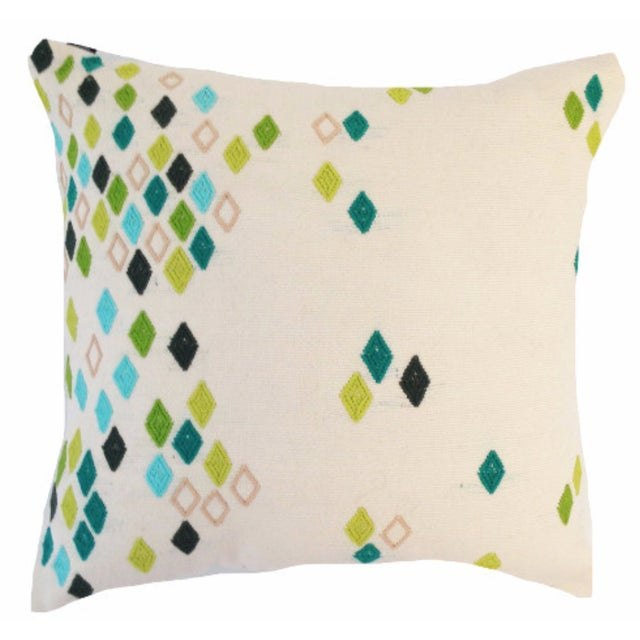 Green Diamond Pillow Cover - Image 1 of 5