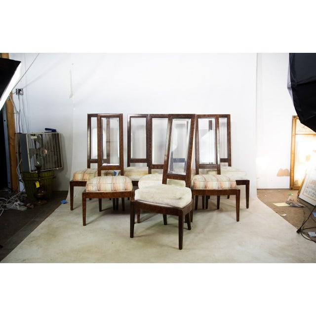 Lucite and Birdseye Maple Veneer Mid-Century Modern Dining Chairs - Set of 8 - Image 3 of 11