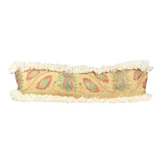 African Yellow Embroidered Mud Cloth Lumbar Pillow Cover