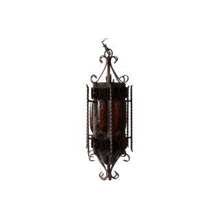 Vintage 1950s Iron Pendant Light