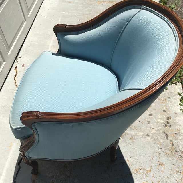 French Barrel Back Chair & Ottoman - A Pair - Image 4 of 9