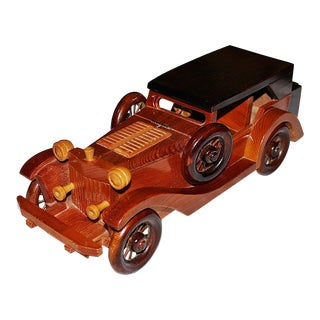 Wood Antique Car Model