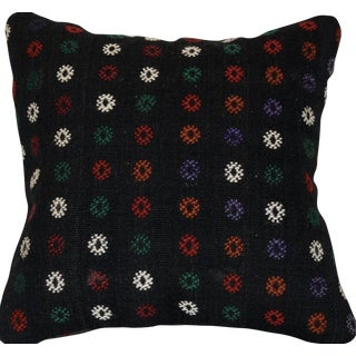 Vintage Handmade Wool Decorative Boho Pillow