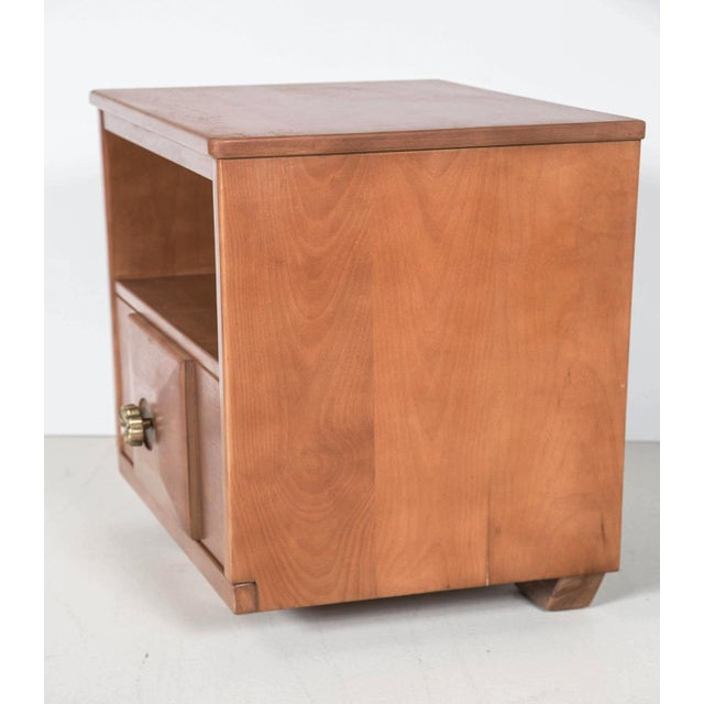 Maple Wood Nightstands - a Pair - Image 3 of 9