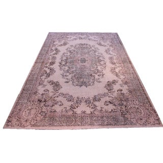 Vintage Turkish Over Dyed Rug - 6′10″ × 10′6″