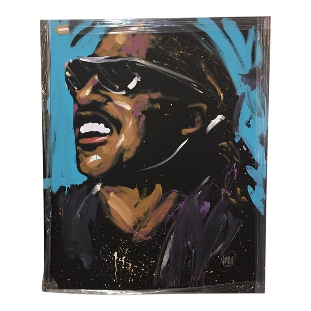 Stevie Wonder Original Painting by David Garibaldi - Image 1 of 4
