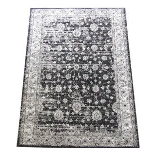Transitional Gray Distressed Rug -5'3''x 7'7''