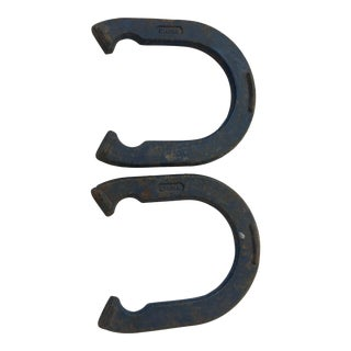 Cast Iron Franklin Horseshoes - A Pair