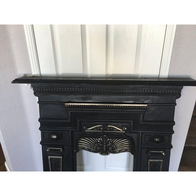 Antique Black Cast Iron Fireplace Mantel Chairish