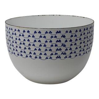 Kaj Franck for Finel Arabia Blue Clover Enamel Bowl