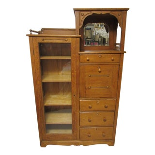 Antique Oak Secretary Bookcase